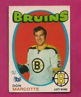 1971-72 OPC # 176 BRUINS DON MARCOTTE  GLUE  CARD  (INV#3231)