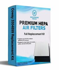 Four Air Purifier Filters & 8 Carbons For Coway Part# Ap1512Hh