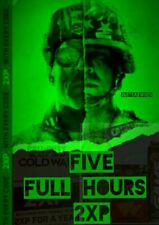 Call of Duty Black Ops Cold War FIVE FULL HOURS double XP 2XP- Quick Delivery!