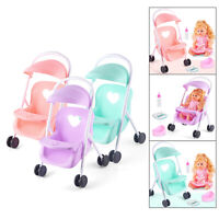 Infant Baby Doll Stroller Pushchairs Foldable Prams Toddlers Pretend Play Toy