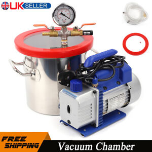 2 Gallon 8L Vacuum Chamber Stainless Steel kit Epoxies Degassing Urethane UK