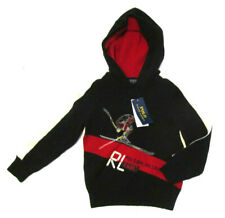 Polo Ralph Lauren Kids Hoodies Sweater, New Blk Red Sakate Edition Sweater Sz 5