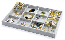 PuTwo Jewellery Organiser 12 Sections Lint Drawer Organiser Display Box Birthday