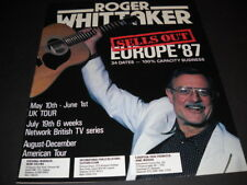 ROGER WHITTAKER Sell Out Europe original 1987 PROMO POSTER AD mint condition