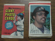 1981 topps Super Giant 5X7 home team photos set (18) New York Yankees-Mets
