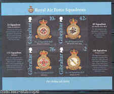GIBRALTAR ROYAL AIRFORCE SHEET DEPICTING  EMBLEMS OF 22,111,89 & 248  SQUADRONS