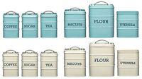 Kitchen Craft Living Nostalgia Coffee Sugar Tea Biscuit Flour Utensil Tin Pot