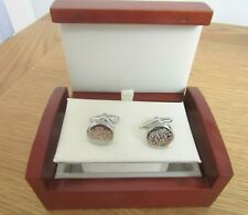 MENS BEN SHERMAN BEST OF BRITISH STAINLESS STEEL CUFFLINKS BRAND NEW AND BOXED