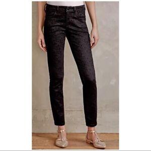 Pilcro and the Letterpress Stet Flocked Jacquard Ankle Skinny Jeans Pants Sz 31