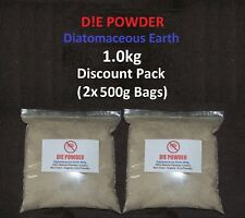 D!E POWDER DIATOMACEOUS EARTH 1.0kg DISCOUNT PACK HORSE WORMER/REDMITE/FLEA/LICE