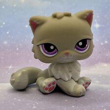 Littlest Pet Shop Authentic # 251 Gray Persian Cat Purple Eyes