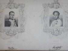 Gravure encadrée Napoléon vieux papier