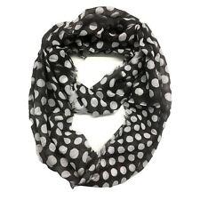Top Fashionland Premium Soft Polka Dot Sheer Infinity Scarf