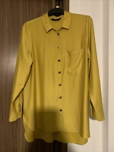 F&F LONG RELAXED FIT MUSTARD BLOUSE SHIRT 16
