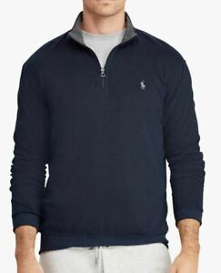 Polo Ralph Lauren Half Zip Sweatshirt, Aviator Navy BIG TALL 6XB XXXXXXL DW70