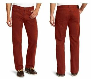 "Haggar H26 Original Men's Chino Pants - Dark Red, Size: 34"" x 29""  BRAND NEW"