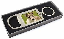 Whippet Puppy Chrome Metal Bottle Opener Keyring in Box Gift Mans, AD-WH70MBO