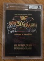 WRESTLEMANIA 10 Signed Poster Shawn Michaels Razor Ramon Diesel WWF WWE BAS