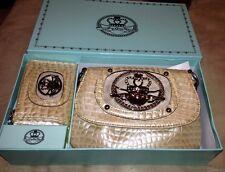 Gorgeous Kathy Van Zeeland crossbody and wallet 2 Pcs set NIB Ivory/Honey R$69