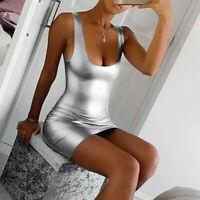 Mini Dress Cocktail Party Womens Club Evening Bandage Sleeveless Bodycon Short