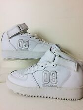 US Polo Assn Deadstock White Leather High Top Sneakers Size 9