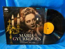 Maria Gyurkovics LP Operatic Recital Qualiton LPX 11393 Hungarian Pressing VG++