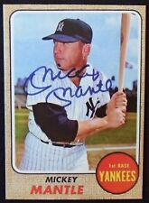 1968 MICKEY MANTLE TOPPS REPRINT CARD AUTO ON FRONT YANKEES MINT #280
