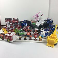 Paw Patrol Used Toys Figures Vehicles Lot Of 26