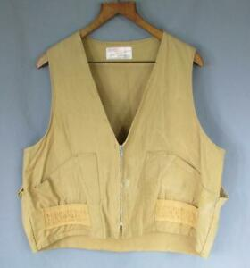 Vintage 1960s Ted Williams Hunting Shooting Field Vest Canvas Sportsmans Sears