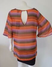 Wrangler Rock 47 Top Ladies Print Tunic Size L 14 12