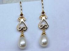 Pearl Fine Earrings Pyrope Garnet