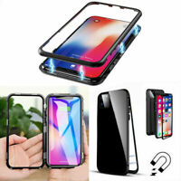 Magnetic Adsorption Metal Case Tempered Glass Cover For Apple iPhone 11 Pro Max