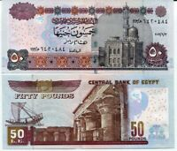EGYPT 50 POUNDS 2013 P 66 UNC