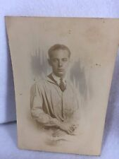 Vintage 1920's Photograph Man Lab Coat Apprentice Scientist Doctor 21278 Smock