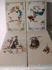Vintage Norman Rockwell 4 New Decks of Playing Cards 4 Seasons Trump Jokers