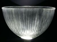 """Vintage Light Shade Holophane Glass Antique 6582 Authentic 12"""" Industrial Lamp"""