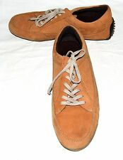 Cole Haan Air Orange Tan Mens Distressed Suede Walking Lace Sneakers 10.5 M
