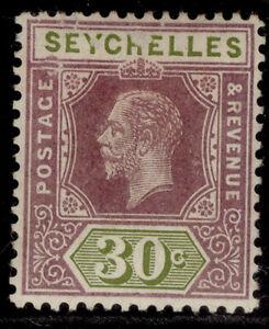 SEYCHELLES GV SG90, 30c dull purple & olive, M MINT.