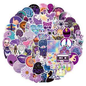 UK Cute Cartoon Fresh Graffiti Stickers Flask 35pc Purple Sticker Aesthetic NEW