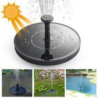 Solar Panel Powered Floating Pump Water Fountain Birdbath Home Pool Garden Decor