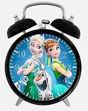 "Disney Frozen Alarm Desk Clock 3.75"" Room Decor E56 Nice for Gifts A+ Quality"