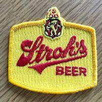 1970s STROH'S BEER vintage sew-on patch BIKER JACKET PATCH Detroit Michigan Brew