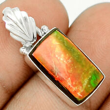 Genuine Canadian Ammolite  925 Sterling Silver Pendant Jewelry SP209360