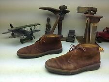 DISTRESSED RALPH LAUREN POLO RUST LEATHER LACE UP CREPE SOLE HIKE SIZE 10 M