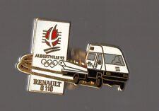 pin's Camion Renault B110 / Jeux Olympiques Albertville 92 (zamac signé renault)