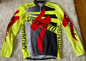 "Specialized Medium M L 20.5"" Vintage Cycling Jersey black neon volt red sworks"