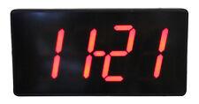 Multi LED digital Wanduhr mit Datum Temperatur Kiosk Cafe Bar Uhr 32x15,5cm