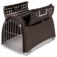 Transport Crate Box For Cats Open Top Metal Mesh Doors Ventilation Holes Handles