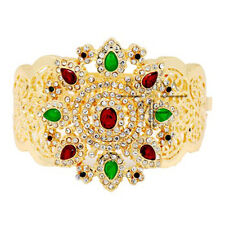 Luxus  Armreif Orientalischer Armband Manchette Gelbgold Pl. Jade Paris Braut