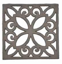 2 Decorative Trivet Square Cast Iron Hot Pad Kitchen Decor